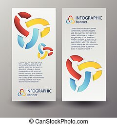 toile, bannières, infographic, vertical