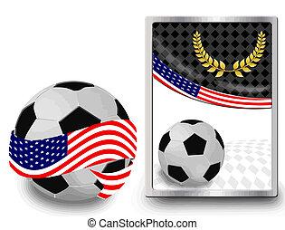toile, boule football, icône