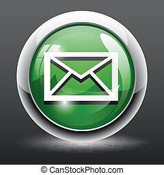 toile, carrée, sms, lustré, icône