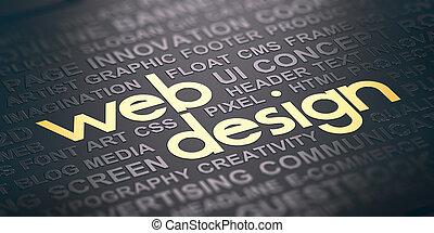 toile, concept, communication, arrière-plan., visuel, conception