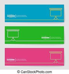 toile, concept, fond, business, mobile, résumé, illustration, créatif, vecteur, applications, conception, infographic., gabarit