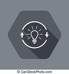 toile, concept, -, vecteur, idée génie, icône
