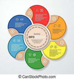 toile, diagramme, commercialisation, annuel, disposition, rapport, conception, infographics, icônes