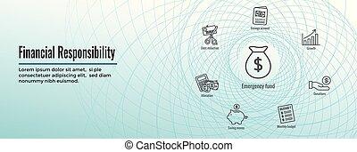 toile, ensemble, finance, &, personnel, -, en-tête, responsabilité, bannière, icône