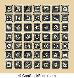 toile, ensemble, icônes, eps, vecteur, 8