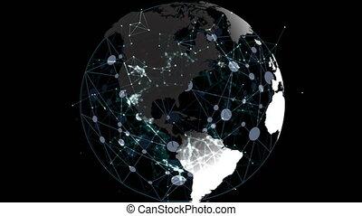 toile, fond, réseau