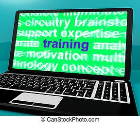 toile, formation, informatique, apprentissage, ligne, message, spectacles