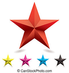 toile, forme, étoile, icône