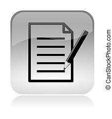 toile, formulaire, interface, icône, document, remplir