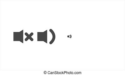 toile, icône, orateur, animé, 4k, render