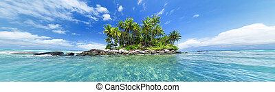 toile, island., nature, photo, image, site, theme., exotique, en-tête, panoramique, conception, tourisme, mer, blog, voyage, bannière, ou