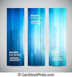 toile, lines., éléments, bannières, clair, vertical, résumé, bleu, bas, ensemble, buttons., vecteur, conception, arrière-plan., polygonal, poly