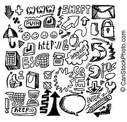 toile, main, dessiner