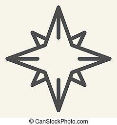 toile, mobile, nord, vecteur, style, noël, design., graphics., année, nouveau, blanc, arrière-plan., décoration, contour, concept, ligne, étoile, pictogramme, icon.