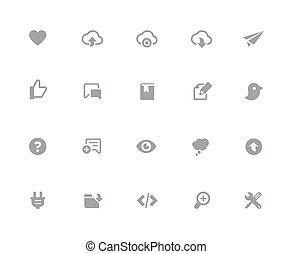 //, toile, &, mobile, série, icônes, -, 32px, 8, blanc