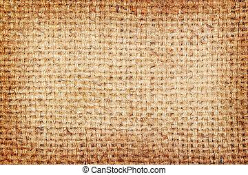 toile sac, textured, fond, brun