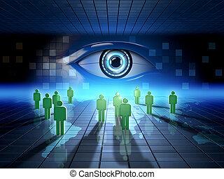 toile, surveillance
