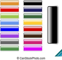 toile, taille, multi coloré, lustré, 2.0, eau, éditer, style., internet, n'importe quel, buttons., collection, facile