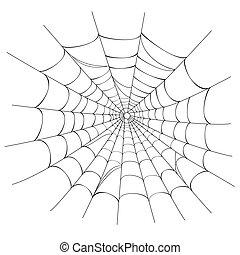 toile, vecteur, araignés, blanc