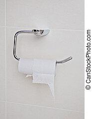 toilette, haut, fini, tissu, bathroom., fin