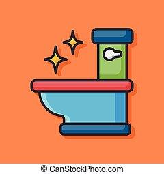 toilette, siège, icône