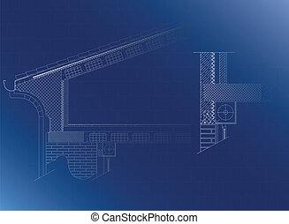 toit, détail architectural