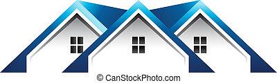 toit, maisons