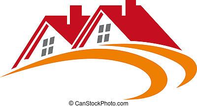 toits, maison, éléments