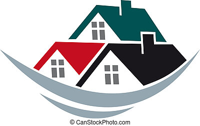 toits, maison, symbole