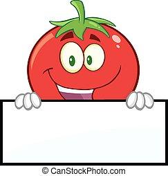 tomate, sur, vide, sourire, signe
