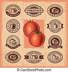 tomate, vendange, timbres, ensemble