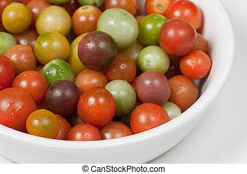 tomates, cerise, héritage