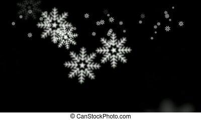 tomber, flocon de neige