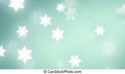 tomber, flocons neige, fond