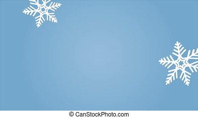 tomber, flocons neige, macro, résumé