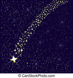 tomber, star.