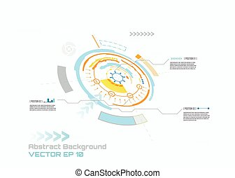 ton, hud, vecteur, high-tech, planche, interface, concept, informatique, conception, fond, résumé, circuit, technologie numérique, infographic, futuriste