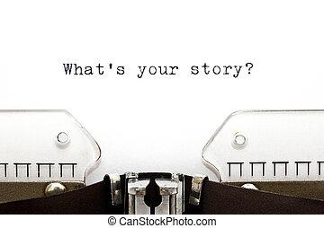 ton, quel, histoire, machine écrire