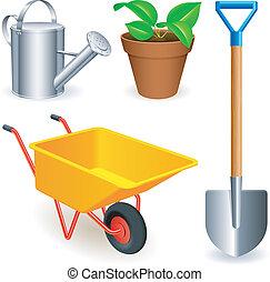tools., jardin