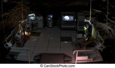 top secret, commande, souterrain, v3., centre