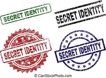 top secret, grunge, timbre, cachets, textured, identité