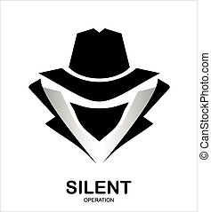 top secret, hacker., espion, icon., service, incognito., agent., undercover., agent