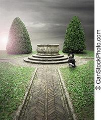 top secret, jardin