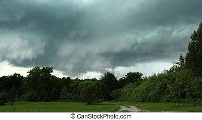 tornade, défaillance, produire, orage, temps