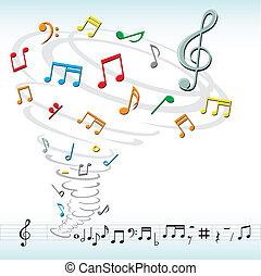 tornade, notes, musique