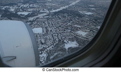 toronto, 1, 2., approach., hiver