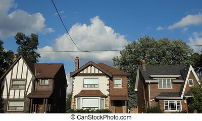 toronto, timelapse., houses.