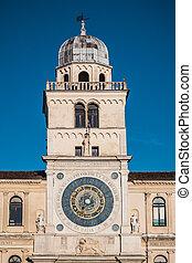torre, orologio, astronomique, vallon, padoue, horloge, italie