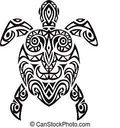 tortue, conception, tatto