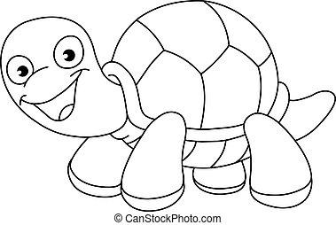 tortue, esquissé